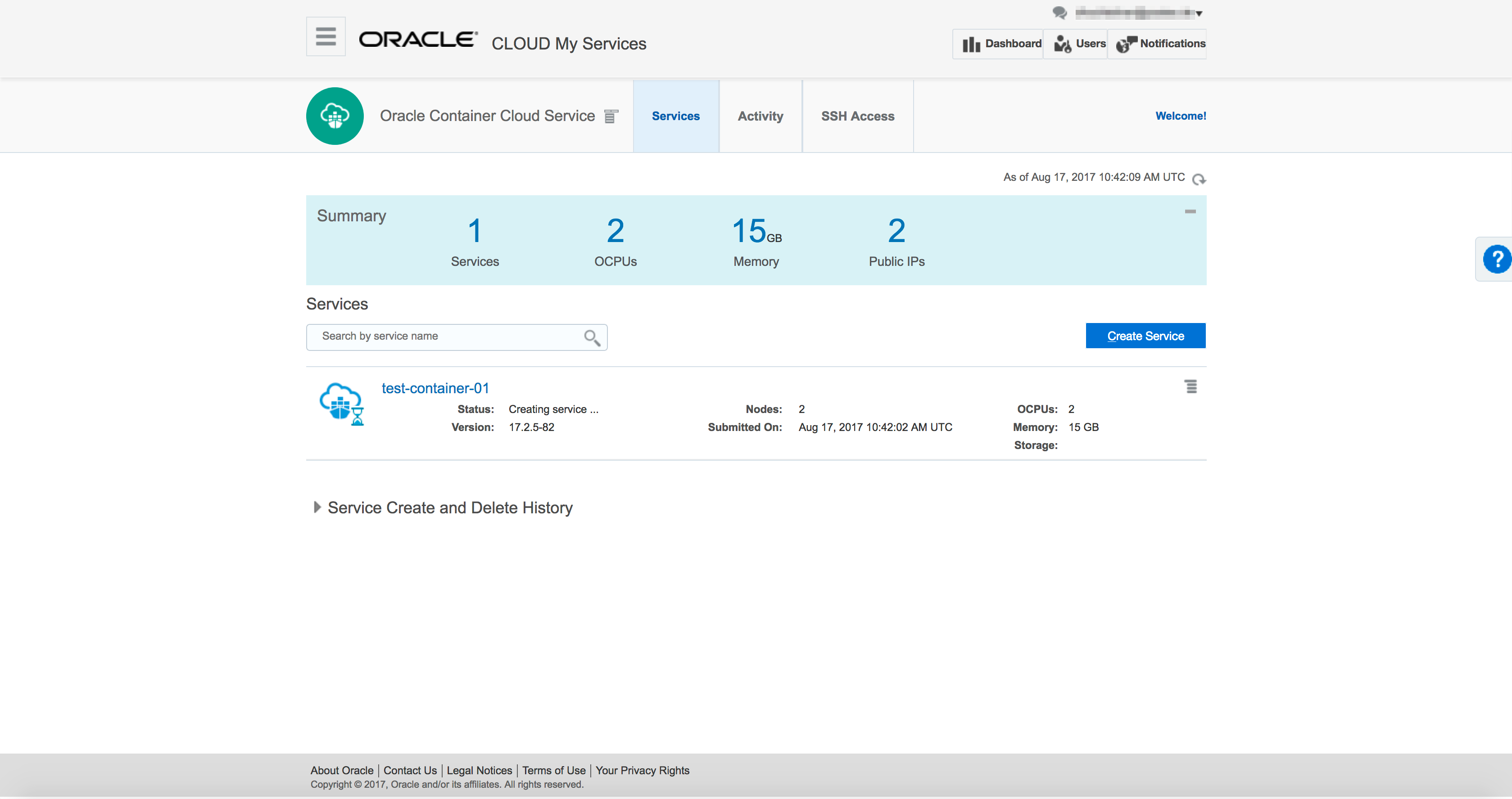 Deploy APEX Docker Image on Oracle Container Cloud Service